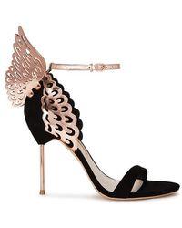 Sophia Webster - Evangeline Winged Suede Court Shoes - Lyst