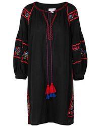 Velvet By Graham & Spencer - Loane Embroidered Cotton Gauze Dress - Lyst