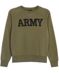 NLST - Army Olive Jersey Sweatshirt - Lyst
