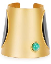 Paula Mendoza - Concave 24kt Gold-plated Cuff - Lyst