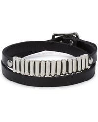 McQ - Mini Bullets Black Leather Wrap Bracelet - Lyst