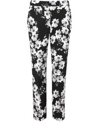 Erdem - Gianna Floral-print Crepe Trousers - Lyst