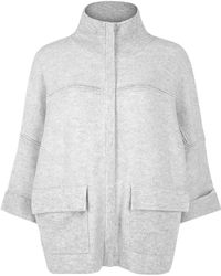 Duffy - Grey Wool And Cashmere Blend Jacket - Lyst