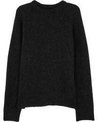 Our Legacy - Black Wool And Mohair Blend Jumper - Lyst