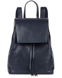 Gvyn - Cole 2.0 Navy Leather Backpack - Lyst