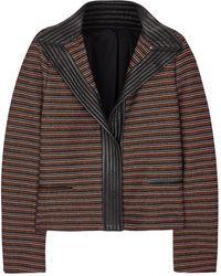 J.Lindeberg - Violet Striped Woven Jacket - Lyst