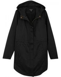 Eileen Fisher - Black Hooded Cotton Blend Jacket - Size L - Lyst