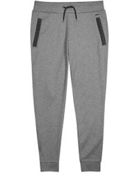 HUGO - Drontier Faux Leather-trimmed Jogging Trousers - Size M - Lyst