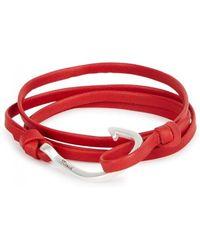 Miansai - Red Hook Leather Wrap Bracelet - Lyst