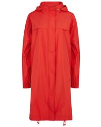 Eileen Fisher - Red Organic Cotton Blend Jacket - Size L - Lyst