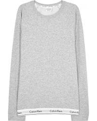 CALVIN KLEIN 205W39NYC - Grey Cotton Blend Sweatshirt - Size L - Lyst