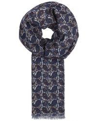 Lardini - Paisley-print Wool Scarf - Lyst