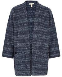 Eileen Fisher - Tonal Blue Bouclé-knit Cardigan - Lyst