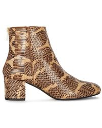 Atp Atelier - Mei Snake-effect Leather Ankle Boots - Lyst
