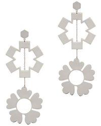 Tory Burch Geo Mismatched Drop Earrings L6dbAwfNO