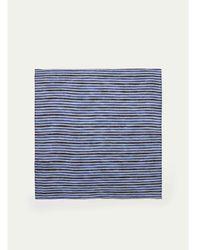 Hackett - Striped Linen Pocket Square - Lyst