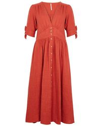 Free People - Love Of My Life Textured Cotton Dress - Lyst