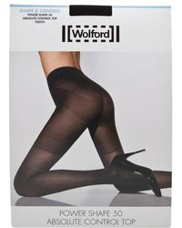 0c3ed68a461 Pretty Polly Shape It Up Suspender Tummy Shaper Tights in Black - Lyst
