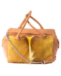 Sherene Melinda - Yellow Box Bag With A Fan - Lyst
