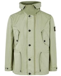bf3c8f51 Stone Island Lucid With Jersey Lining Shirt Jacket Capi Spalla in Blue for  Men - Lyst