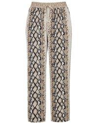Joie - Ceylon Python-print Chiffon Trousers - Lyst