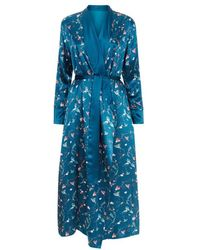 Meng - Blue Shawl-collared Robe - Lyst