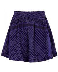 Cecilie Copenhagen - Indigo Cotton Jacquard Skirt - Lyst