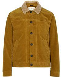 Oliver Spencer - Buffalo Shearling-trimmed Corduroy Jacket - Lyst