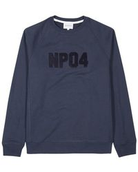 Norse Projects - Ketel Navy Logo-appliqué Cotton Sweatshirt - Lyst