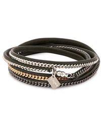 Vita Fede | Capri Leather And Chain Wrap Bracelet | Lyst