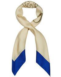 Gucci - Logo-print Silk Twill Scarf - Lyst