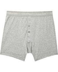 Calvin Klein | Grey Cotton Boxer Briefs - Size Xl | Lyst