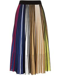 KENZO - Striped Knitted Skirt - Lyst