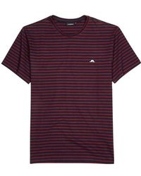 J.Lindeberg - Charles Striped Cotton T-shirt - Lyst