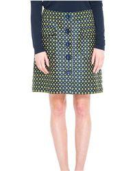 Max Studio - Diamond Jacquard Button Front Skirt - Lyst