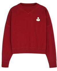Étoile Isabel Marant - Madilon Red Cotton Blend Sweatshirt - Lyst