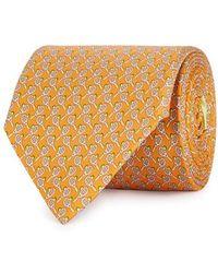 Ferragamo - Tennis Racket-print Silk Twill Tie - Lyst