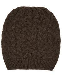 Lardini - Textured-knit Alpaca-blend Beanie - Lyst
