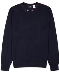 PS by Paul Smith - Navy Wool-blend Jumper - Lyst