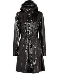 Rains - Glossy Curve Patent Rubberised Raincoat - Lyst