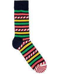 Happy Socks - Striped Cotton Blend Socks - Size One Size - Lyst