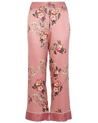 Joie - Reeda Floral-print Satin Trousers - Lyst