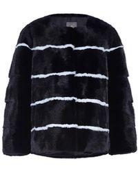 Lilly E Violetta - Sarah Striped Mink Fur Jacket - Lyst