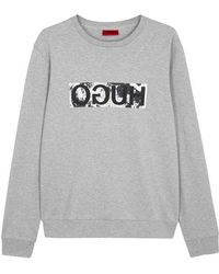 HUGO - Dicago Printed Cotton Sweatshirt - Lyst