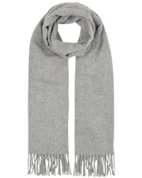 Acne Studios - Canada Grey Mélange Wool Scarf - Lyst