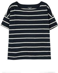 Eileen Fisher - Striped Organic Cotton Top - Lyst