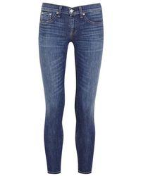 Rag & Bone - Capri Blue Cropped Skinny Jeans - Size W29 - Lyst