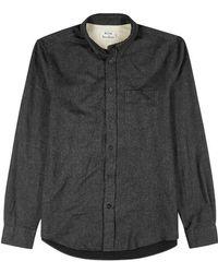Acne Studios - Isherwood Charcoal Cotton Shirt - Lyst