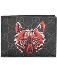 Gucci - Monogrammed Fox-print Leather Wallet - Lyst