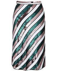 Diane von Furstenberg Sheen Sequin Silk Skirt - White